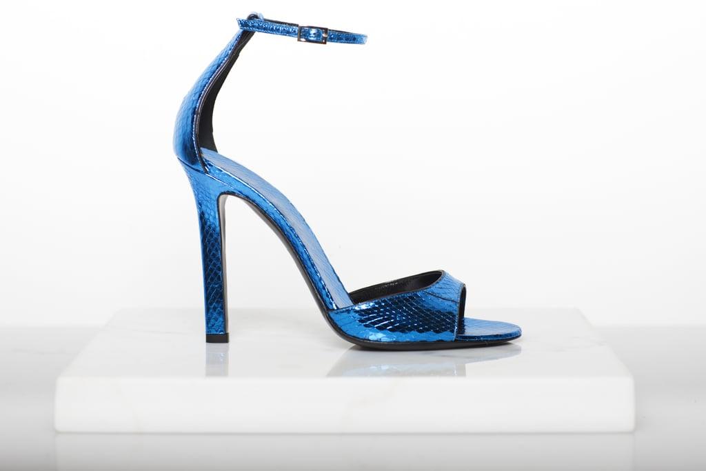 Whisper Watersnake Sandal in Turquoise Photo courtesy of Tamara Mellon