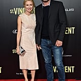 Naomi Watts and Liev Schreiber held hands at the NYC premiere of St. Vincent on Monday.