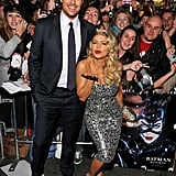 Fergie blew a kiss with husband Josh Duhamel by her side at the premiere of his movie New Year's Eve in LA in December 2011.