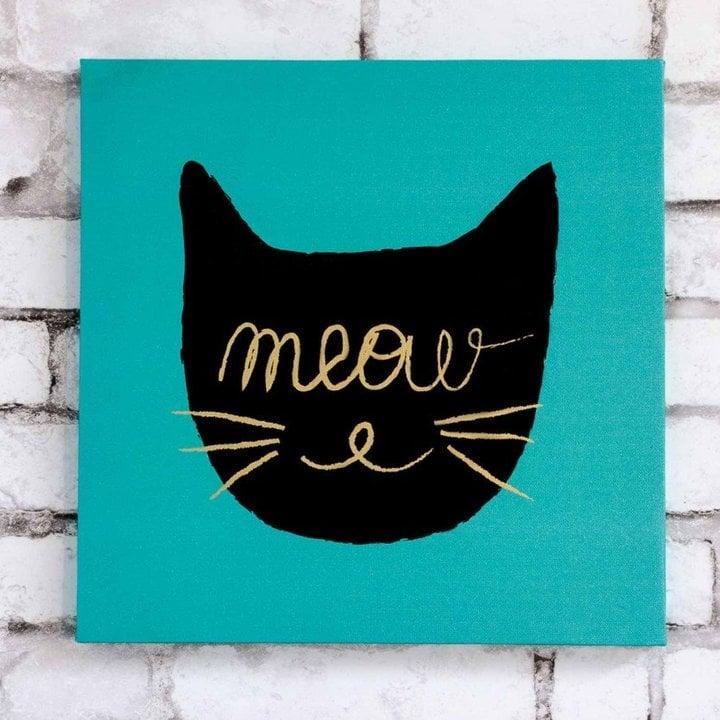 Meow wall art