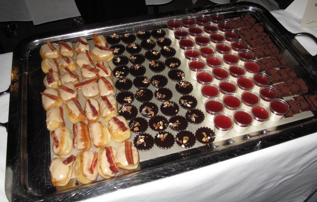 Even desserts couldn't go without some added element of pig. My favorite was the maple bacon doughnut on the left.