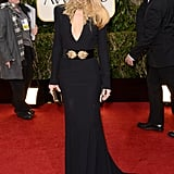 Kate Hudson wore a long black gown at the Golden Globes.