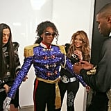 A team, including La Toya Jackson, worked on Bre to make her look like '80s era Michael Jackson.  Photo courtesy of CW