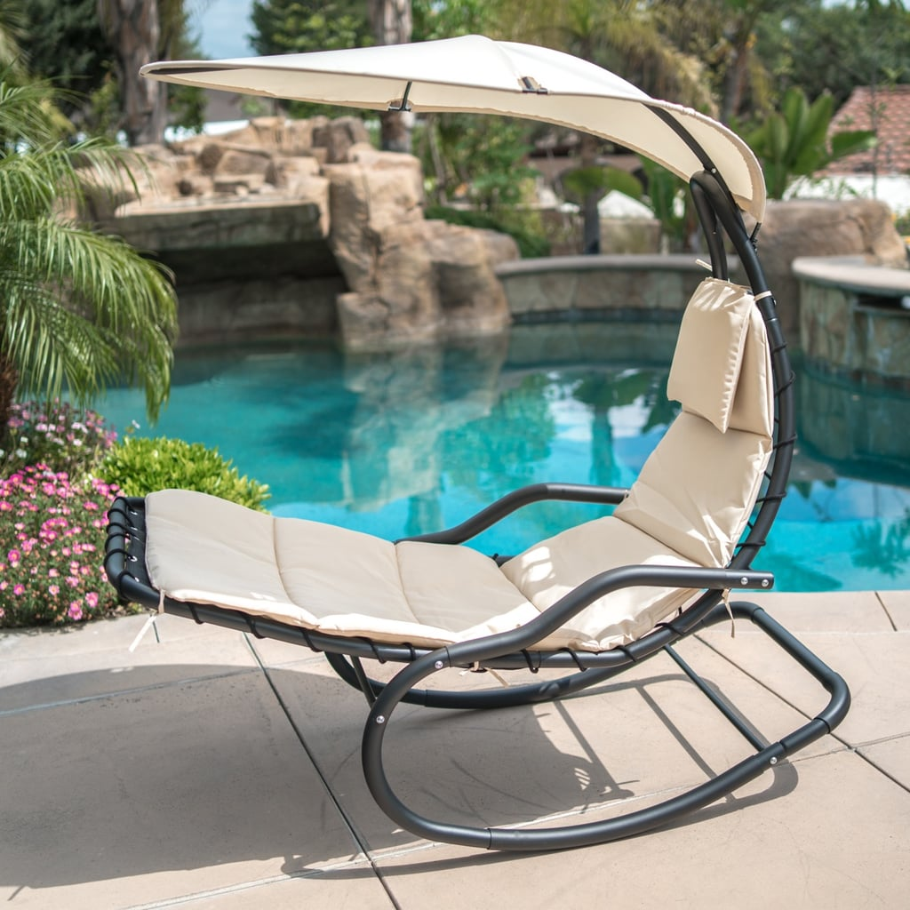 Belleze Hanging Rocking Sunshade Canopy Chair Walmart Has The Best Patio Furniture You Can Buy For Summer Our 24 Favorites Prove It Popsugar Home Photo 15