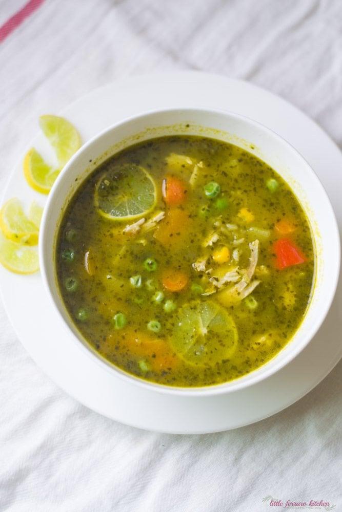 Peruvian Cilantro Turkey Soup