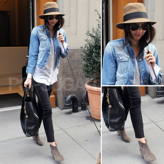 Miranda Kerr Denim Jacket Popsugar Fashion