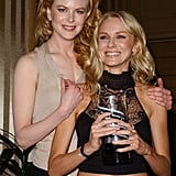 Nicole presented Naomi with a Movieline breakthrough performance of the year award for her role in Mulholland Drive back in November 2001.