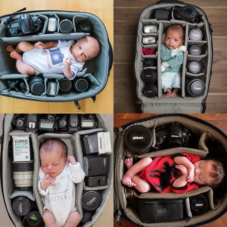 Photographers Take Photos of Their Babies in Camera Bags