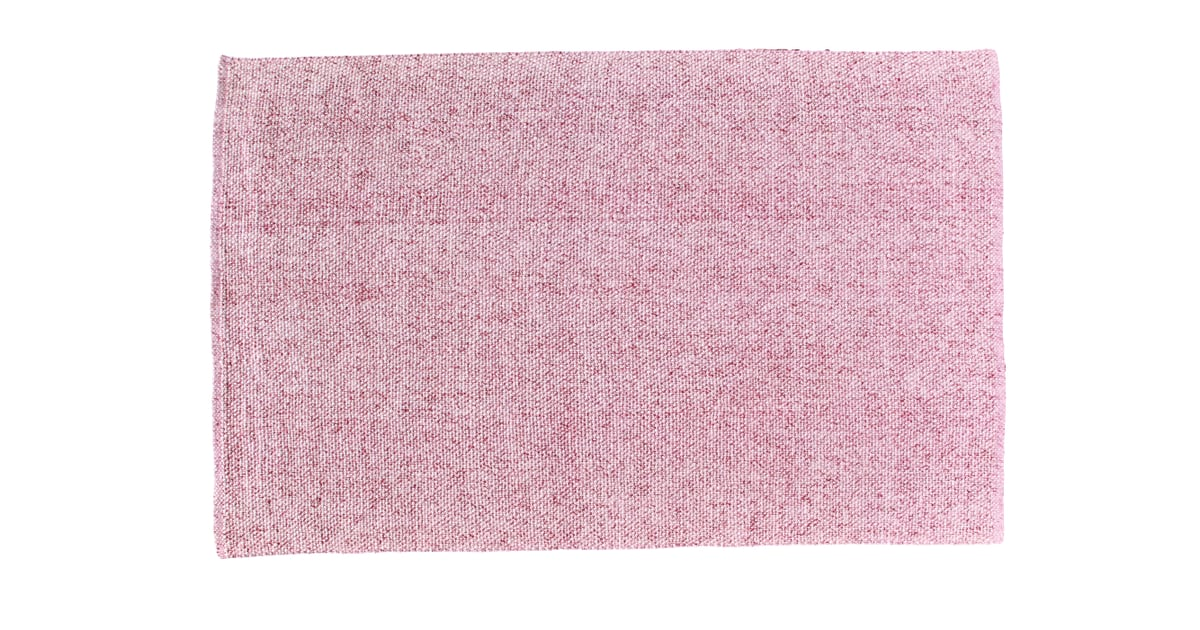 Blush Pink Flatweave 5x8 Wool Area Rug 270 World