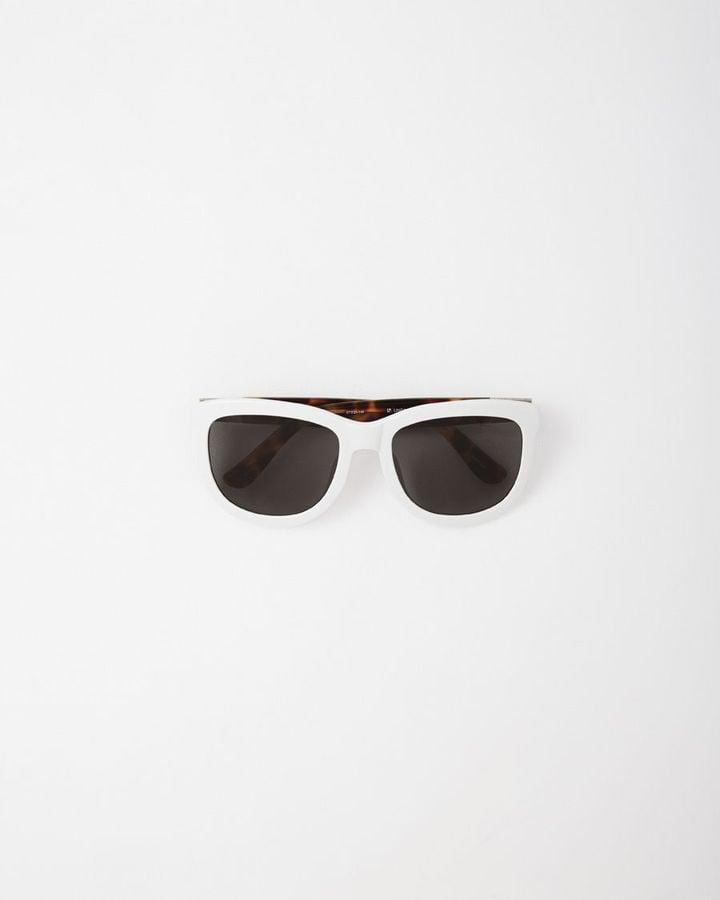 The Row White Frame Tortoise Sunglasses ($390)
