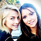 Julianne Hough and Nina Dobrev squeezed in some BFF time together. Source: Instagram user juleshough