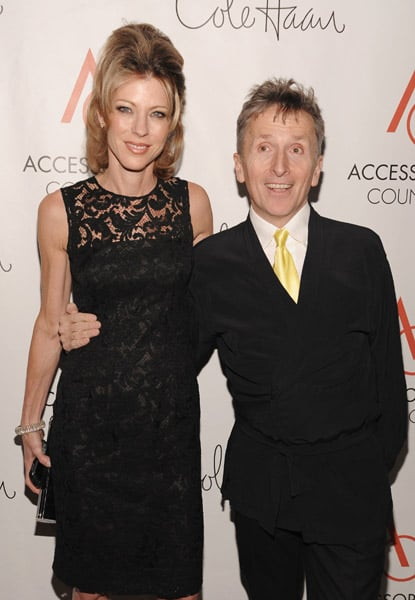 Elle's Roberta Myers in Prada and Simon Doonan.
