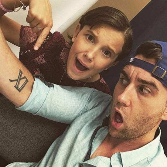 Matthew Lewis and Millie Bobby Brown Tattoo Selfie