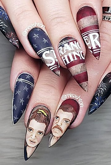 Stranger Things Nail Art