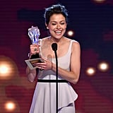 Tatiana Maslany looked like she couldn't be happier to accept her best actress in a drama series win.