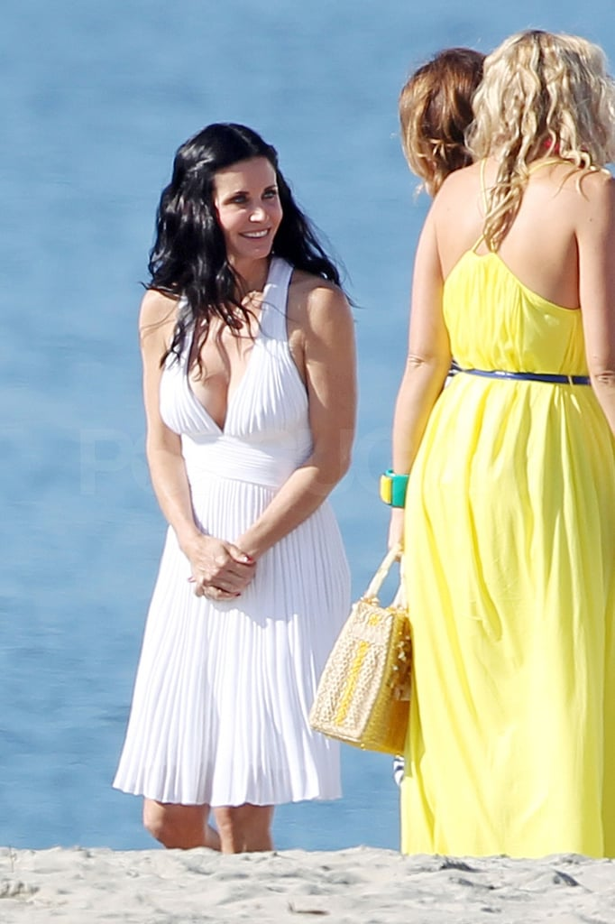 Christa, Courteney, and Busy kept each other in stitches.