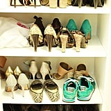 Case in point: check out my shoe situation. Note the number of heels in there. I can safely say my shoe collection is 90:10, heels to flats. Read: not San Francisco-friendly.