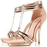 Topshop Rose Gold Party Barely There Sandals