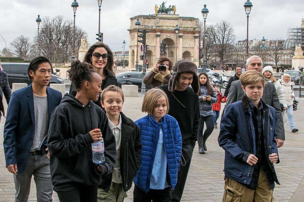 Angelina Jolie and Kid... Angelina Jolie Kids 2018