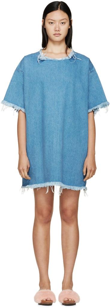 Marques Almeida Faded Blue Frayed Denim Dress ($395)