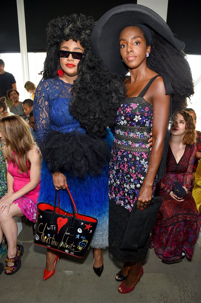 TK and Cipriana Quann at the Tadashi Shoji New York Fashion Week Show