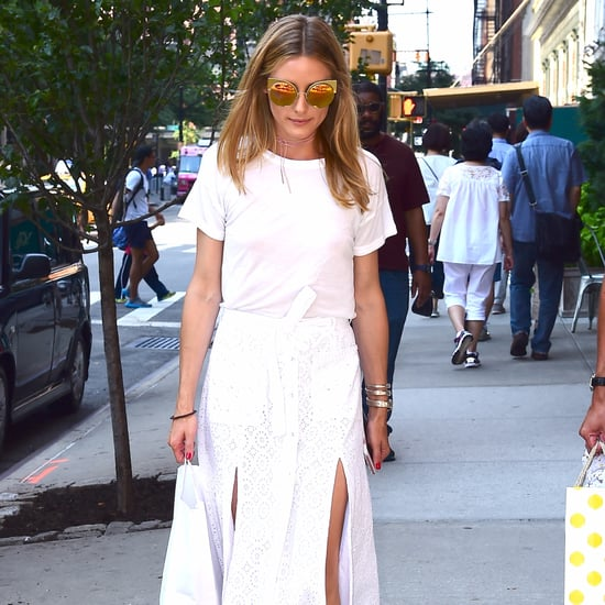 Olivia Palermo Wearing Midi Skirts and Heels