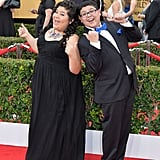 Modern Family's Rico Rodriguez and his sister, Raini, got animated on the red carpet at the SAG Awards.