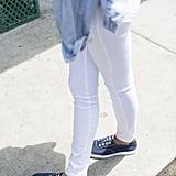 Reinigt textile Schuhe