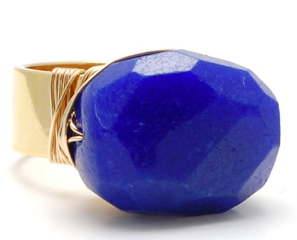 If you want your finger to get in on the cobalt craze, then dress it up with this Janna Conner cobalt jade ring ($88).
