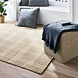 Cottonwood Hand Woven Plaid Area Rug Neutral