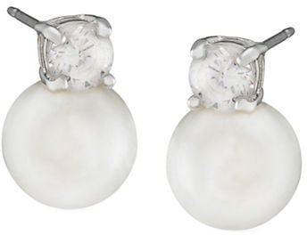 Lauren Ralph Lauren Silvertone Crystal and Glass Pear Stud Earrings ($44)