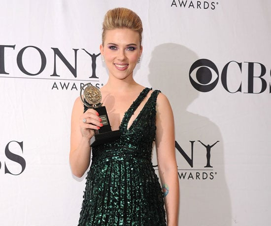 Picture Slide of Scarlett Johansson After Winning a Tony