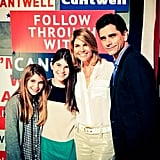 """John: """"Lori Loughlin and her beautiful daughters came to see @thebestmanbway"""""""
