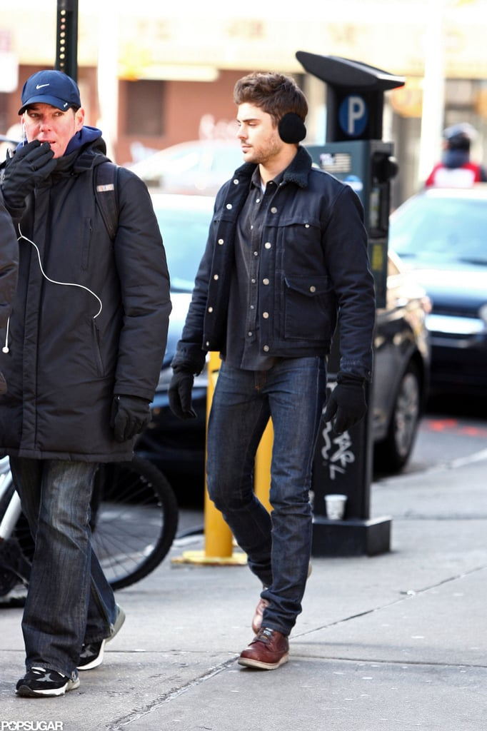 Zac Efron hit the NYC streets wearing earmuffs.