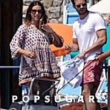 Jamie Dornan and Amelia Warner in Italy August 2018