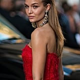 Not only did Josephine Skriver wear a red Sachin & Babi gown to the 2016 CFDA Fashion Awards, but she rocked the Grapes earrings as well.