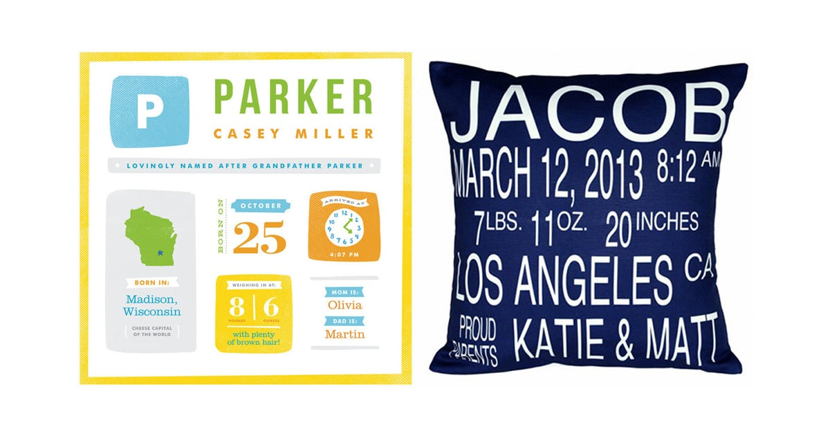 Birth Announcement Pillows Art and More – Madison Wi Birth Announcements