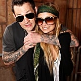 Nicole Richie and Joel Madden checked out Six Flags in January 2009.