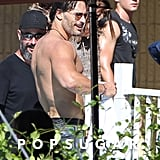 And here's Joe Manganiello! The actor, reprising his role as Big Dick Richie, gave us the shirtless shot we were hoping for.