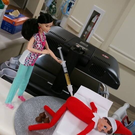 Elf on the Shelf at the Hospital Ideas