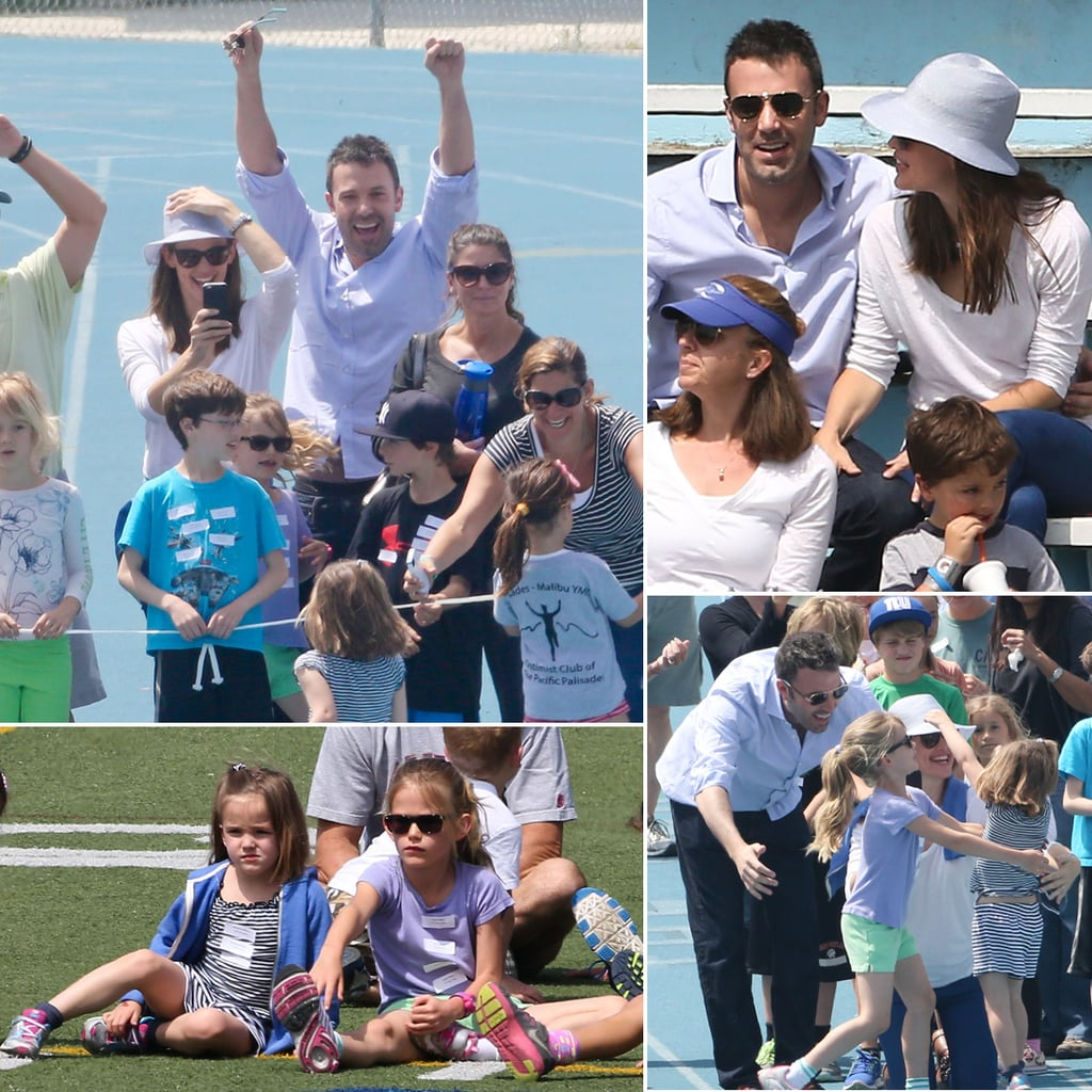 Ben Affleck, Jennifer Garner and Daughters at Track Meet ...