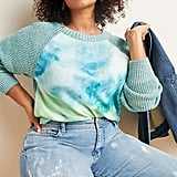 Anthropologie Watercolor Tie-Dyed Sweater