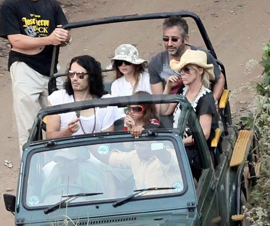 Pictures of Russell Brand on His Wedding Safari