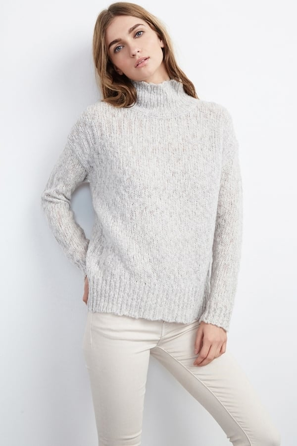 Monalisa Textured Stitch Turtleneck Sweater ($189)