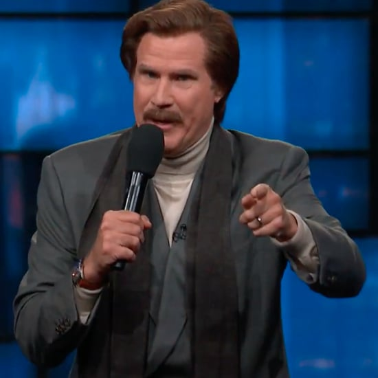 Will Ferrell as Ron Burgundy on Late Night TV