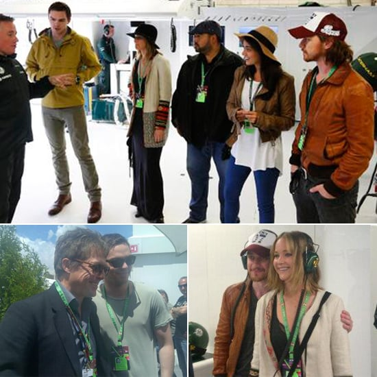 Jennifer Lawrence Spends a Day at the Races With Her X Men