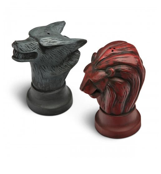 Stark and Lannister Salt and Pepper Shakers ($26)