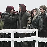 Brad was surrounded by World War Z extras.