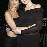 Jennifer and Liv Tyler shared a warm embrace at MTV Icon's Aerosmith event in April 2002.