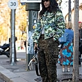 Winter Outfit Idea: A Camo Jacket and Cargo Pants